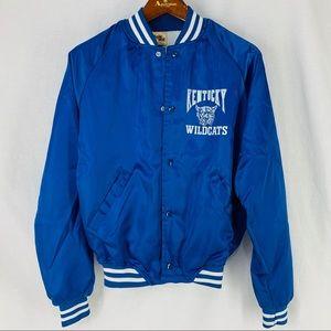 Vintage UK Wildcats Satin Nylon Jacket Chalk Line